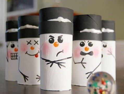 manualidades con tubos de papel de baño para navidad