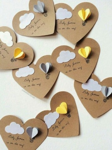 manualidades de papel de amor regalo