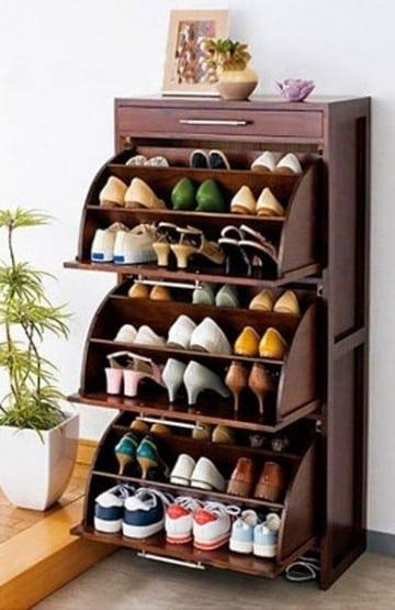 muebles para zapatos de madera moderno