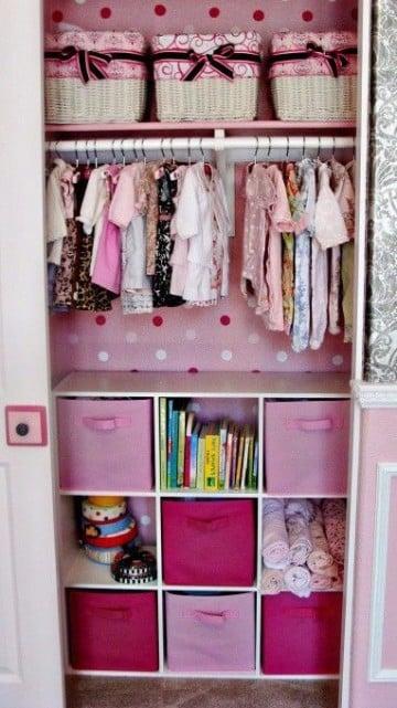 organizador de ropa para bebe niña