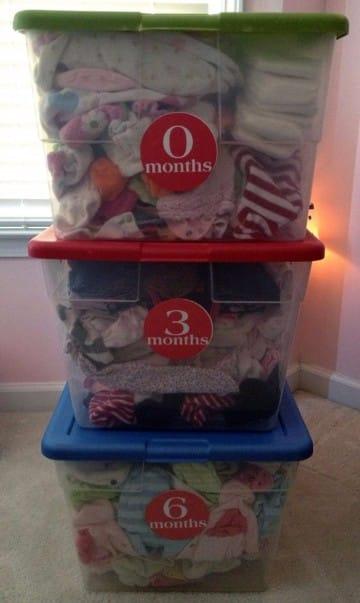 Como hacer un organizador de ropa para bebe en for Reciclado de placares