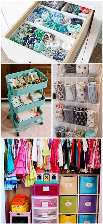 organizador de ropa para bebe y niños