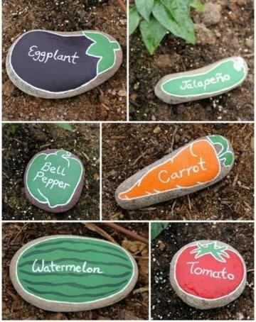 piedras decoradas para jardin pintadas
