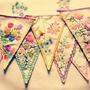 como hacer banderines de tela para decorar