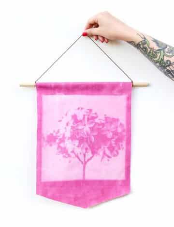 como hacer banderines de tela sin coser