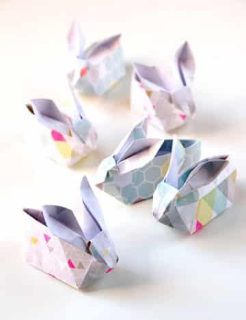 como hacer conejos de papel origami