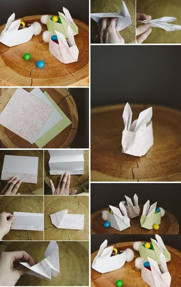 como hacer conejos de papel paso a paso