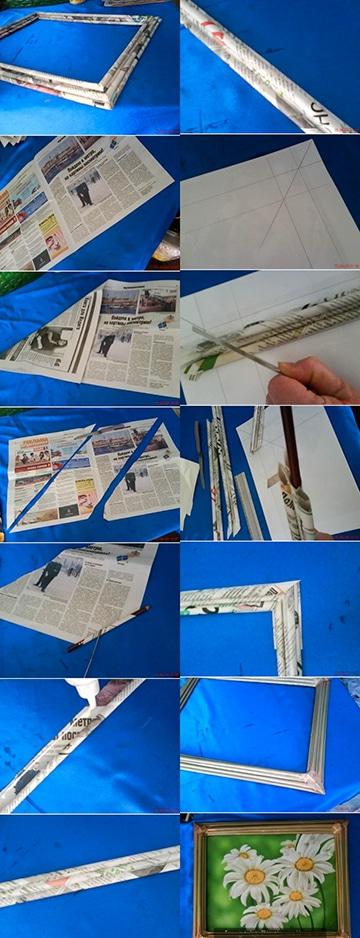 como hacer portaretratos de carton corrugado