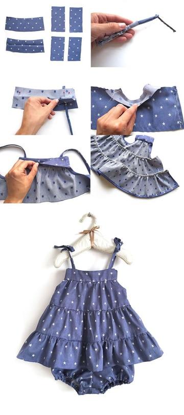 como hacer vestidos para bebes paso a paso
