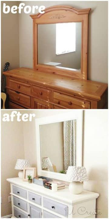 como pintar muebles vintage en blanco