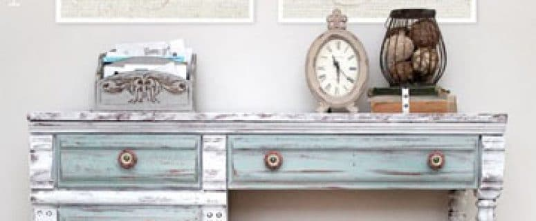 Como Pintar Un Mueble En Blanco.Como Pintar Muebles Vintage De Madera Estilo Envejecido