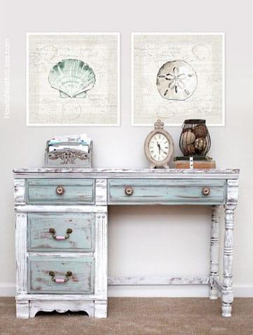 como pintar muebles vintage de madera estilo envejecido
