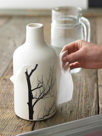 como pintar vaso de ceramica con diseño