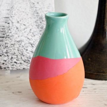 como pintar vaso de ceramica para flores