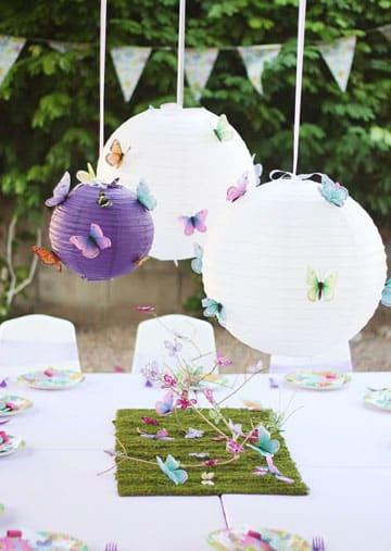 decoracion de mariposas para cumpleaños lampara