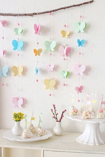 decoracion de mariposas para cumpleaños nena