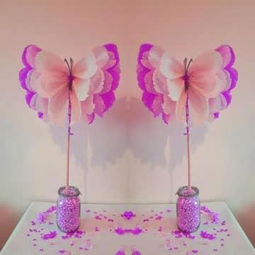 decoracion de mariposas para cumpleaños para 15 años
