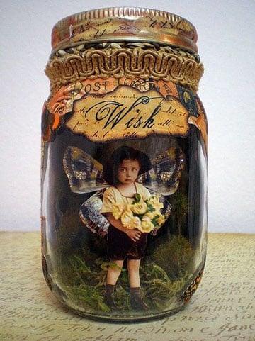 frascos de mermelada decorados con pintura