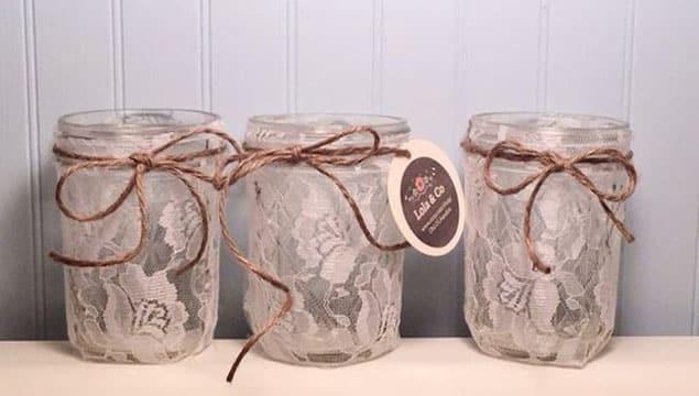 frascos de mermelada decorados para cumpleaños