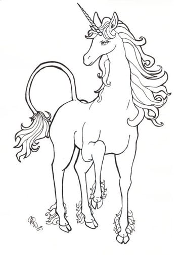 Line Drawing Unicorn : Dibujos e imagenes de unicornios para colorear a lapiz
