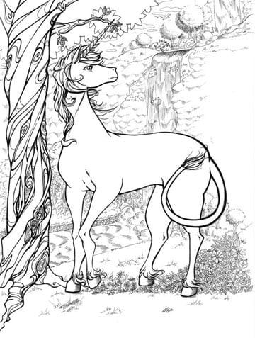 imagenes de unicornios para colorear sereno