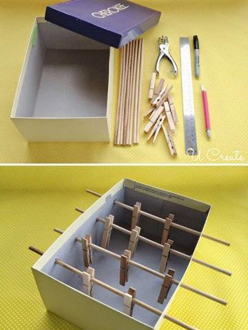 juegos de mesa con material reciclado caja