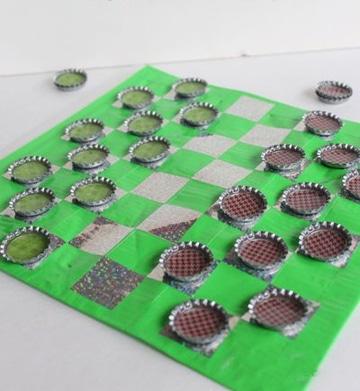juegos de mesa con material reciclado damas