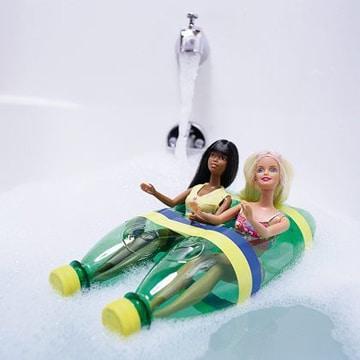 juguetes reciclados de botellas bote