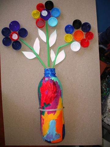 manualidades con tapones de plastico de botellas