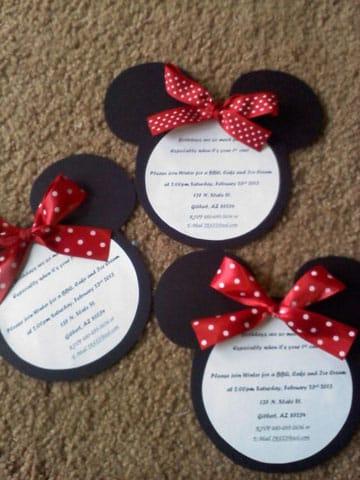 manualidades de minnie para cumpleaños invitaciones