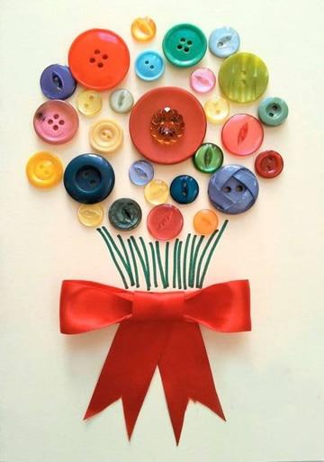 manualidades para niños de 6 a 8 botones