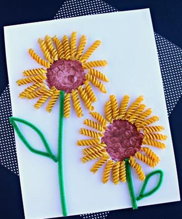 manualidades para niños de 6 a 8 flores