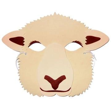 mascaras de animales en foam oveja