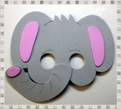 mascaras de animales en foam para niños