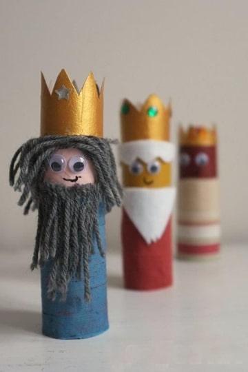 muñecos reciclables faciles de hacer reyes