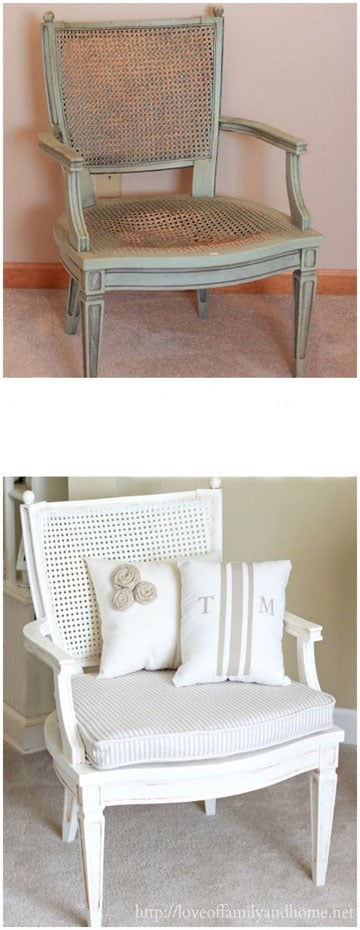 Antiguos muebles restaurados en blanco antes y despues for Muebles antiguos vintage