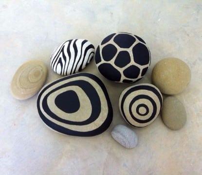 piedras pintadas para jardin decorar