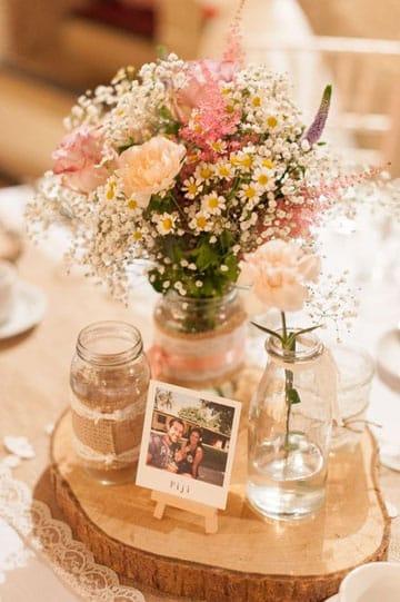 adornos para matrimonio civil en casa