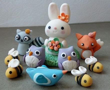 animalitos en porcelana fria para regalar
