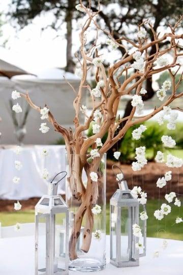 arboles secos decorados para boda