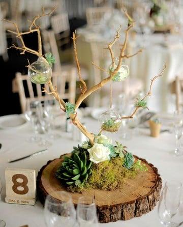 arboles secos decorados para fiestas