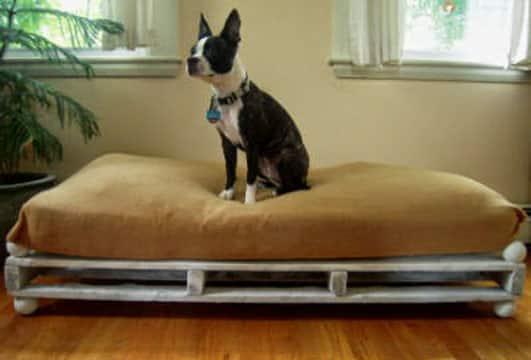 camas para perros con palets sencilla