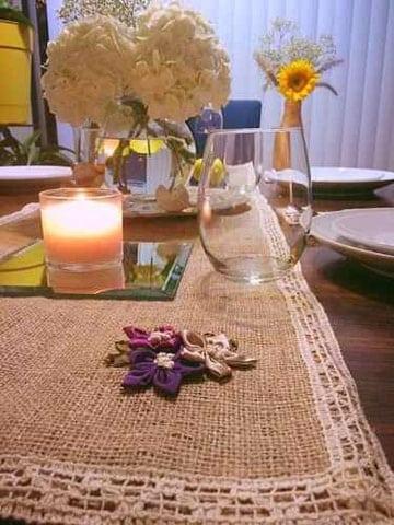 caminos de mesa de arpillera facil