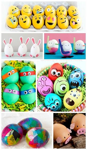 cascarones de huevo decorados de personajes