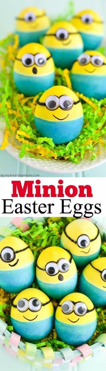 cascarones de huevo decorados minions