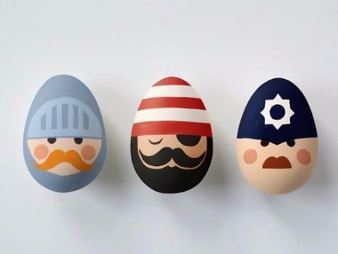 cascarones de huevo decorados para niños