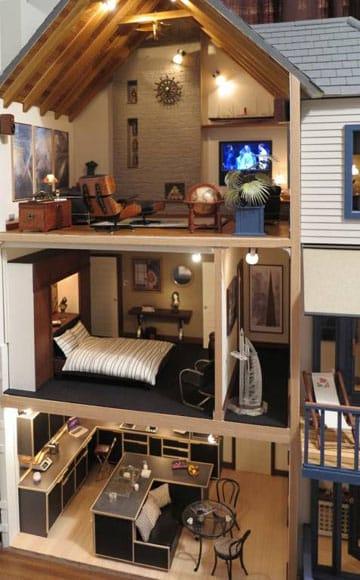casitas de muñecas pintadas elegante