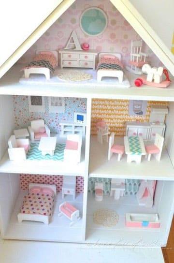 casitas de muñecas pintadas sencilla