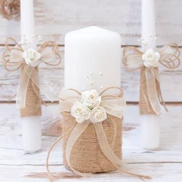 Como decorar velas para bautizo elegantes y personalizadas - Velas decoradas para bautizo ...