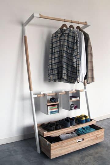 como hacer colgadores de ropa de madera